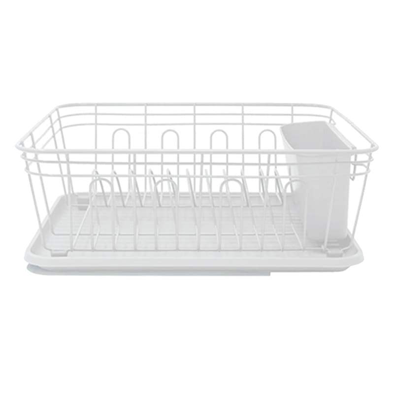 Metal And Wire Dish Rack White
