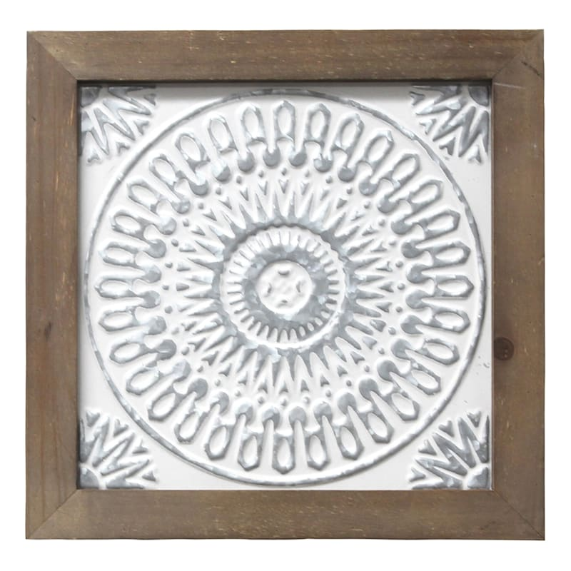 "Framed Medallion Wall Art, 12"" x 12"""