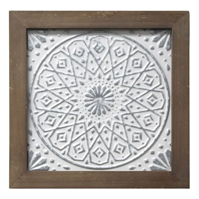 12X12 Embossed Metal Framed Wall Decor