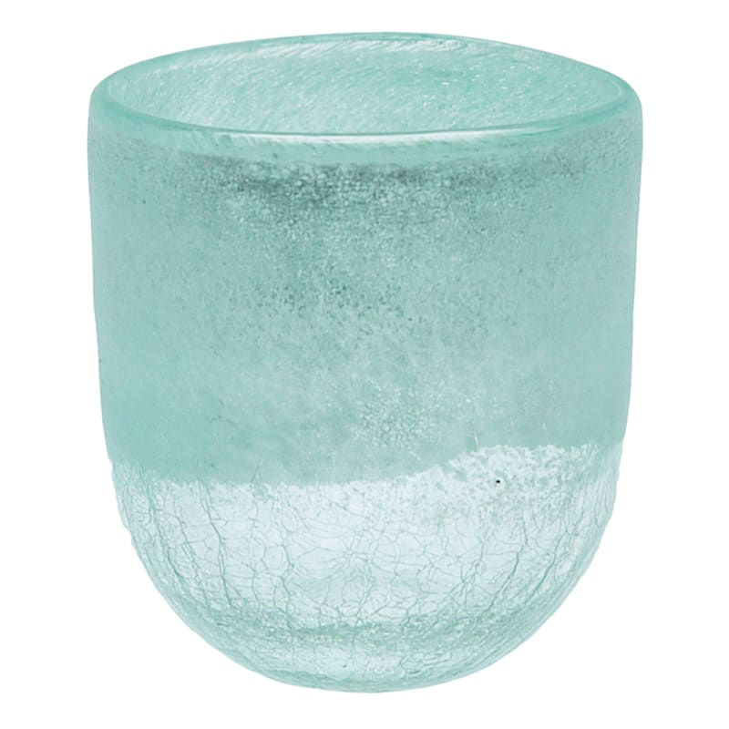 Frosted Mint Glass Vase 6in.