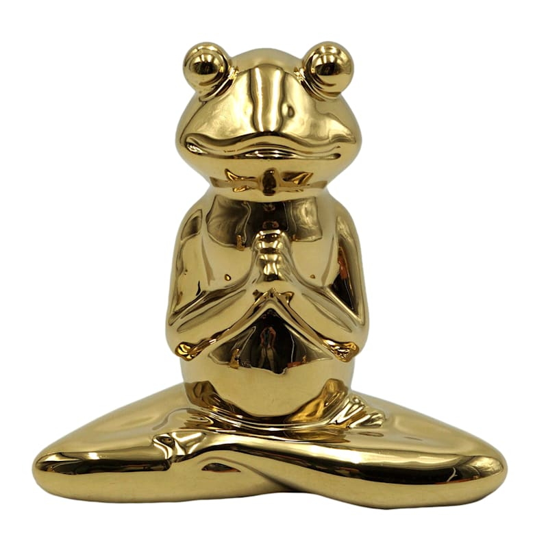 5X5IN GOLD YOGA FROG