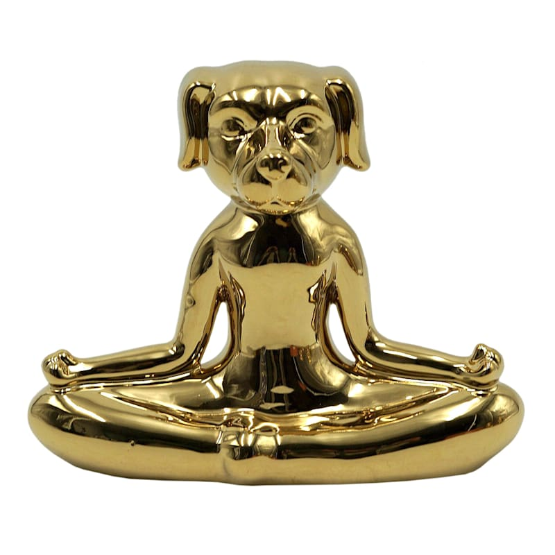 7X6IN GOLD YOGA PUG