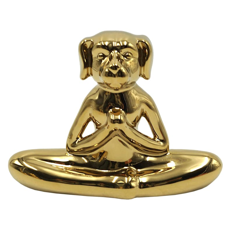 6X4IN GOLD YOGA PUG