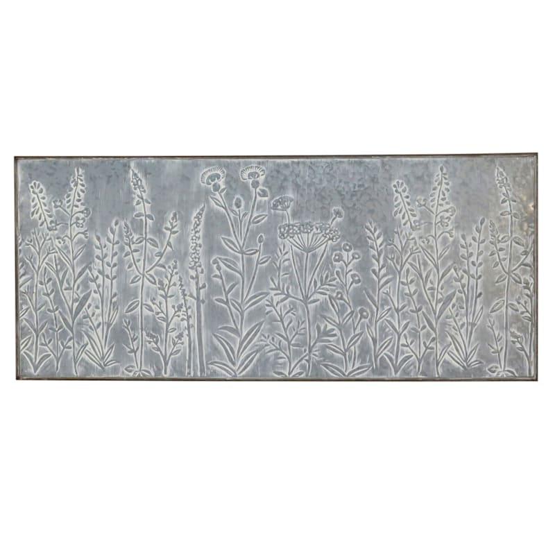 "Floral Metal Wall Art Panel, 40"""