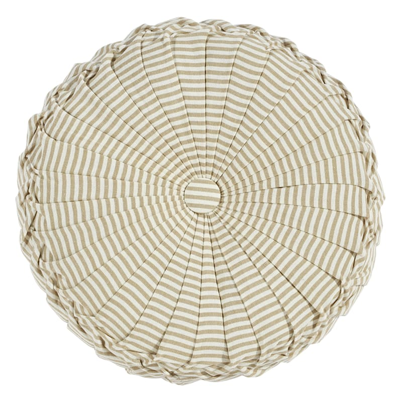 TICKING STRIPE ROUND-TAUPE-16