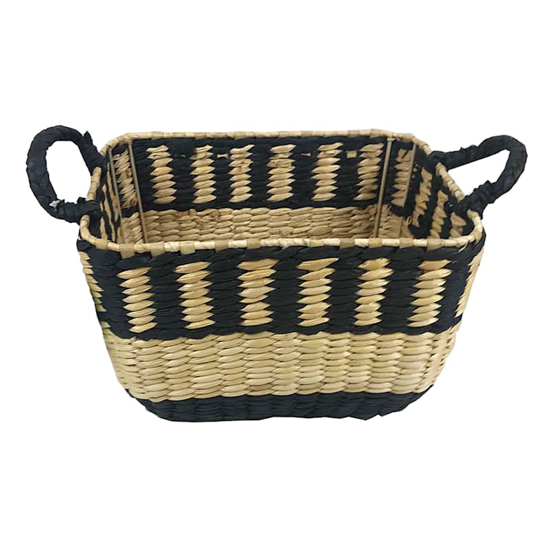 BLACK AND NATURAL BASKET S