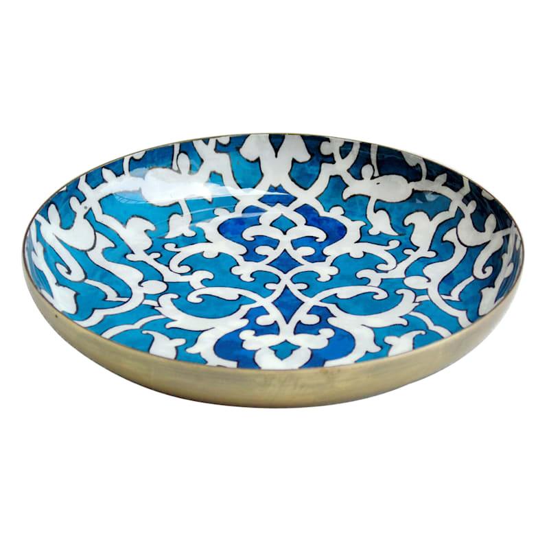 6X6 Blue Iron Round Decal Printed Trinket Tray
