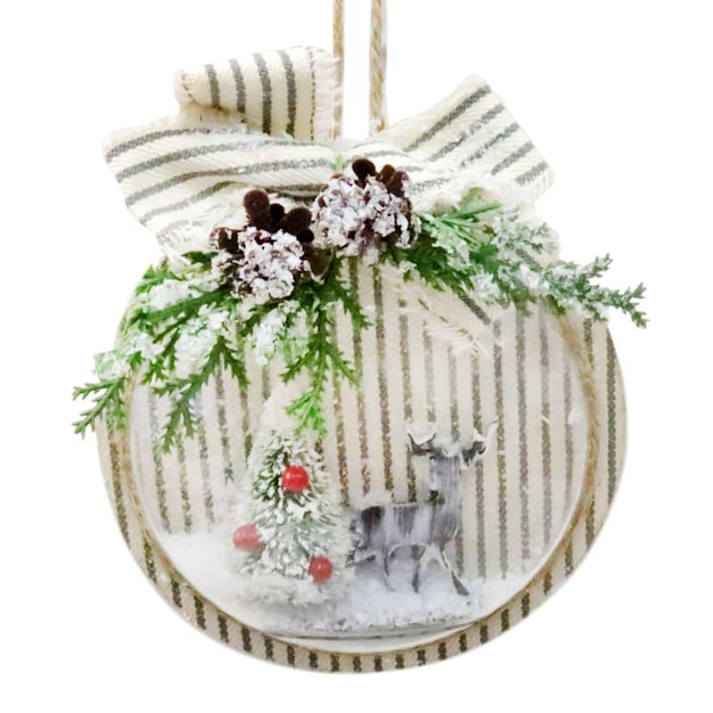 """Circular Pine Ornament, 6"""""""
