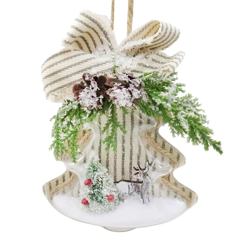 """Christmas Tree with Bow Ornament, 6"""""""