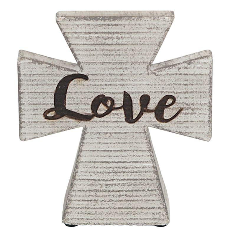 5X6 MDF CROSS LOVE