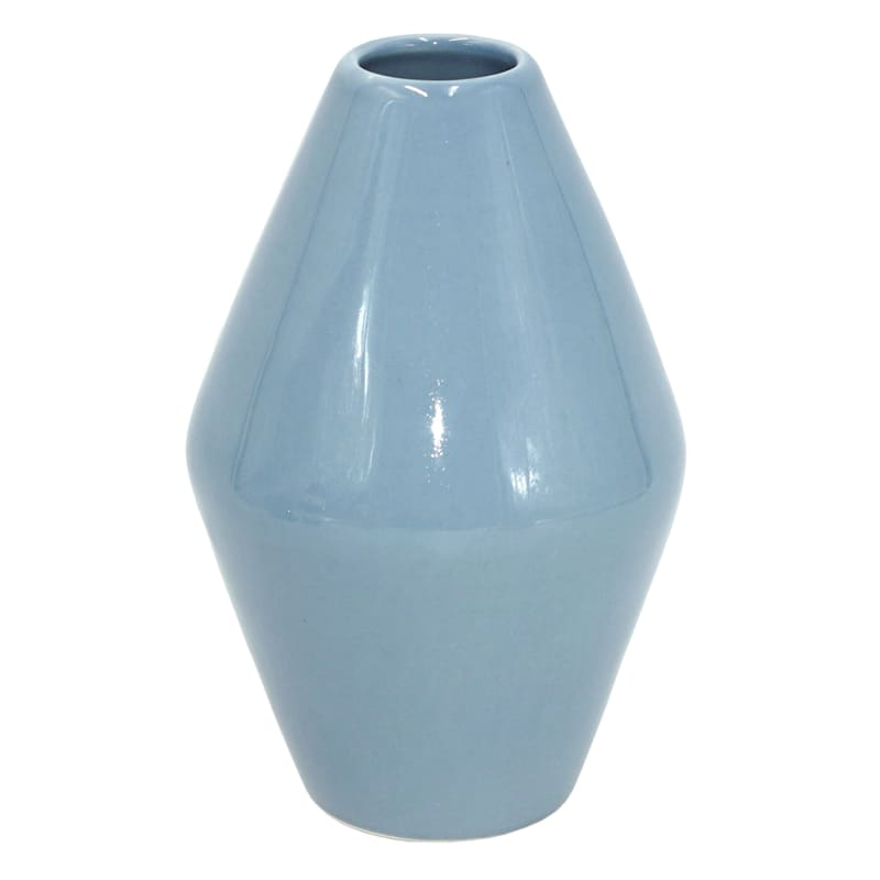 "Grace Mitchell Blue Ceramic Vase, 7"""