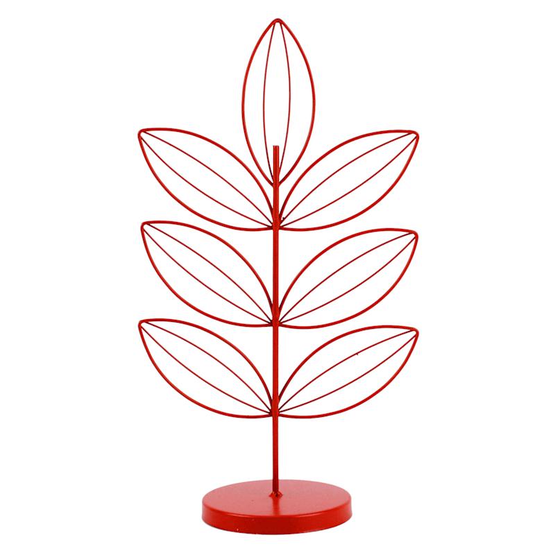 12in. Metal Red Leaf Tree Figurine