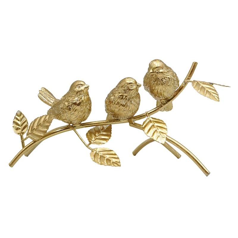 "Grace Mitchell Gold Birds on Branch, 11"""