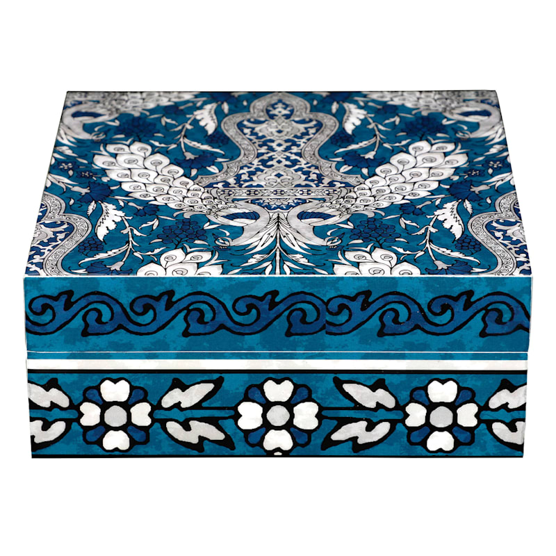 "Jodhpur Blues Decal Box, Large (6"")"