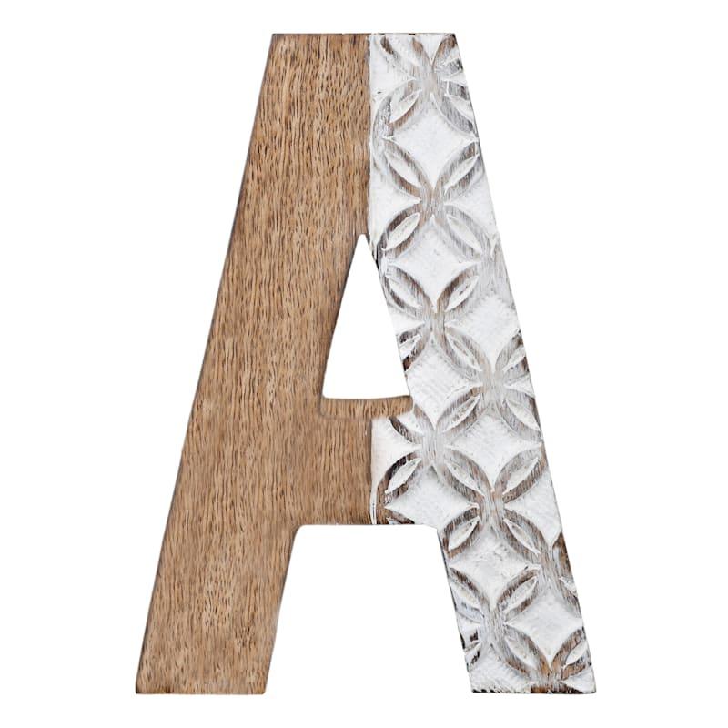 BROWN CARVED MONOGRAM A