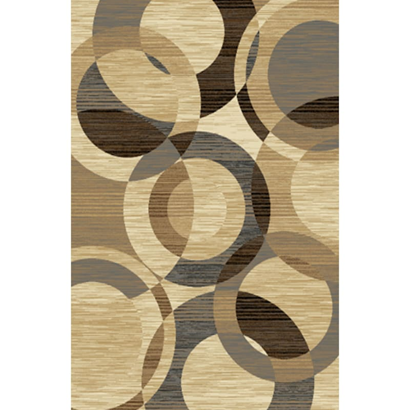 B644 SUP RINGS BROWN 3X5 RUG