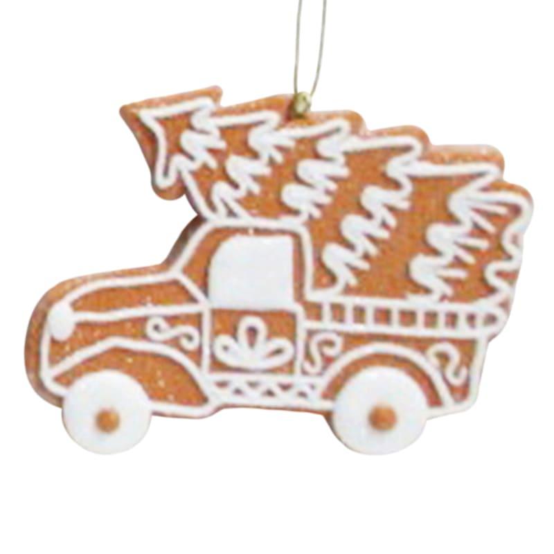 """Gingerbread Truck Ornament, 3.5"""""""