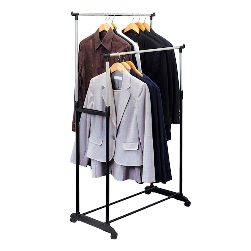 Black Double Rod Garment Rack