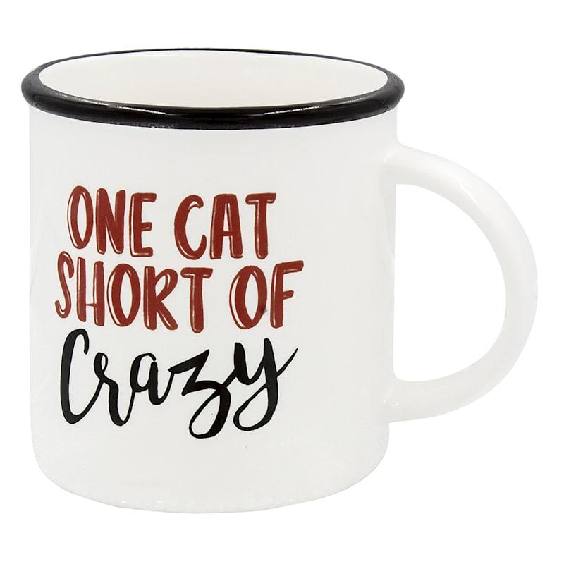 ONE CAT SHORT OF CRAZY MUG