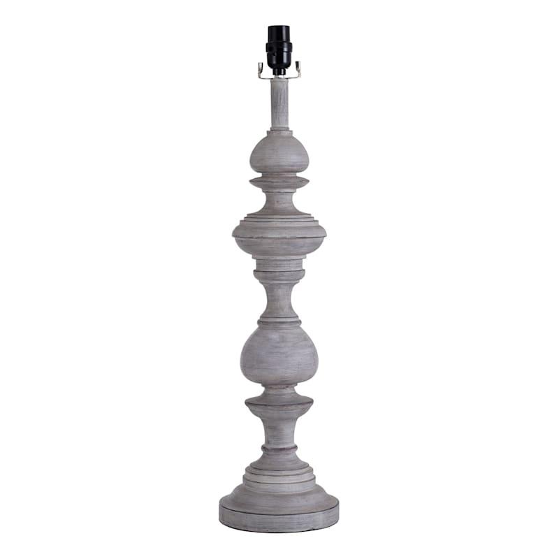 28IN GREY OVERSIZED TABLE LAMP