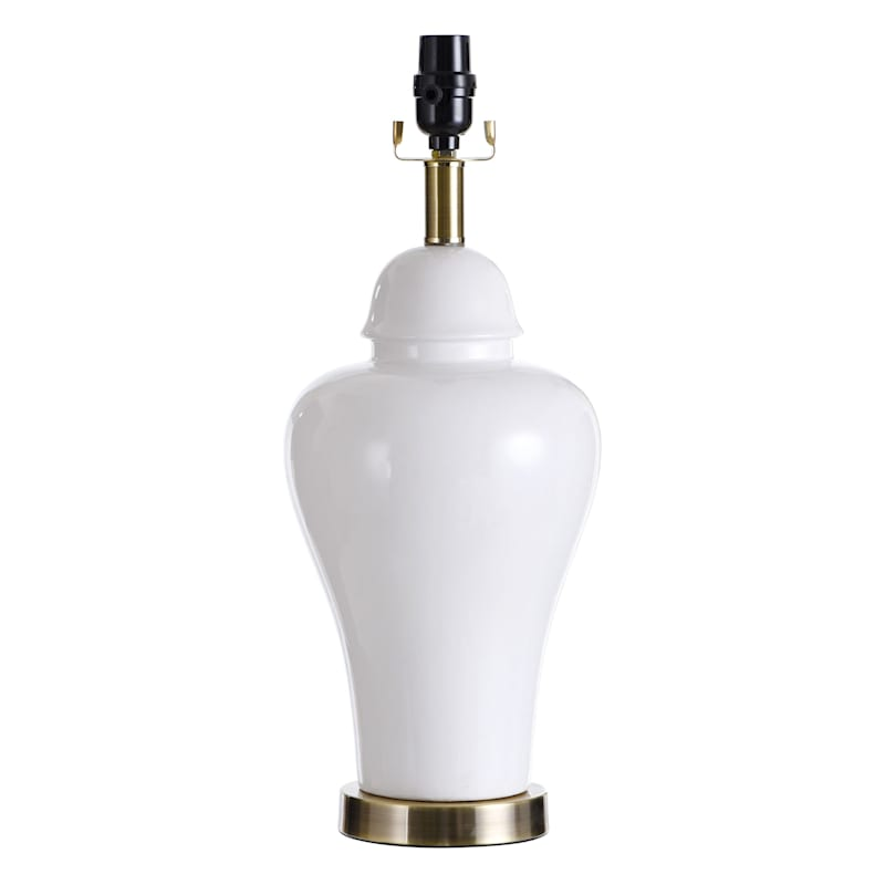 19IN WHITE URN TABLE LAMP