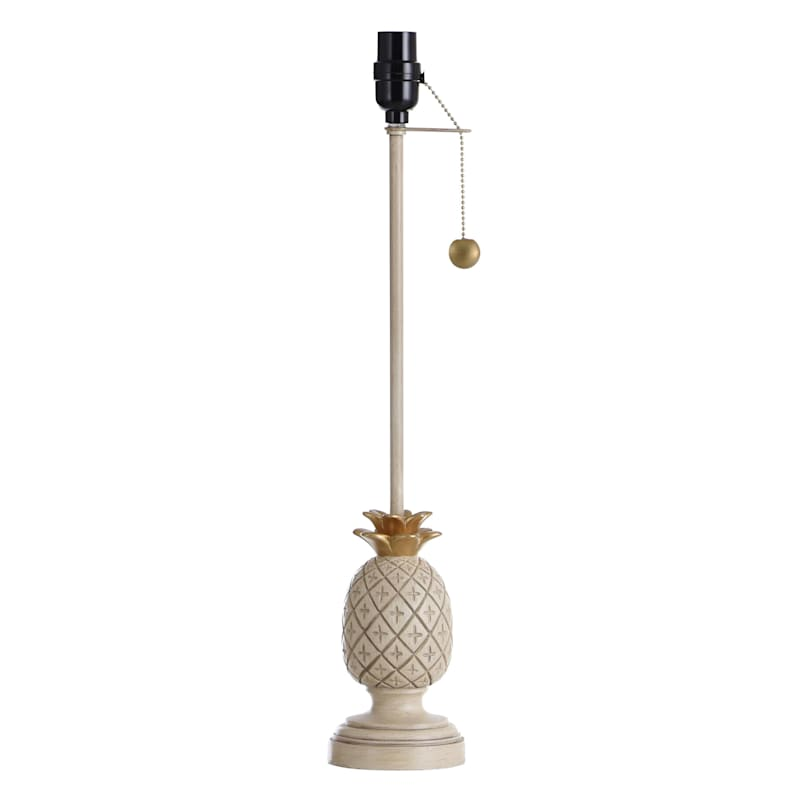 28IN WHT PINEAPPLE BUFFET LAMP