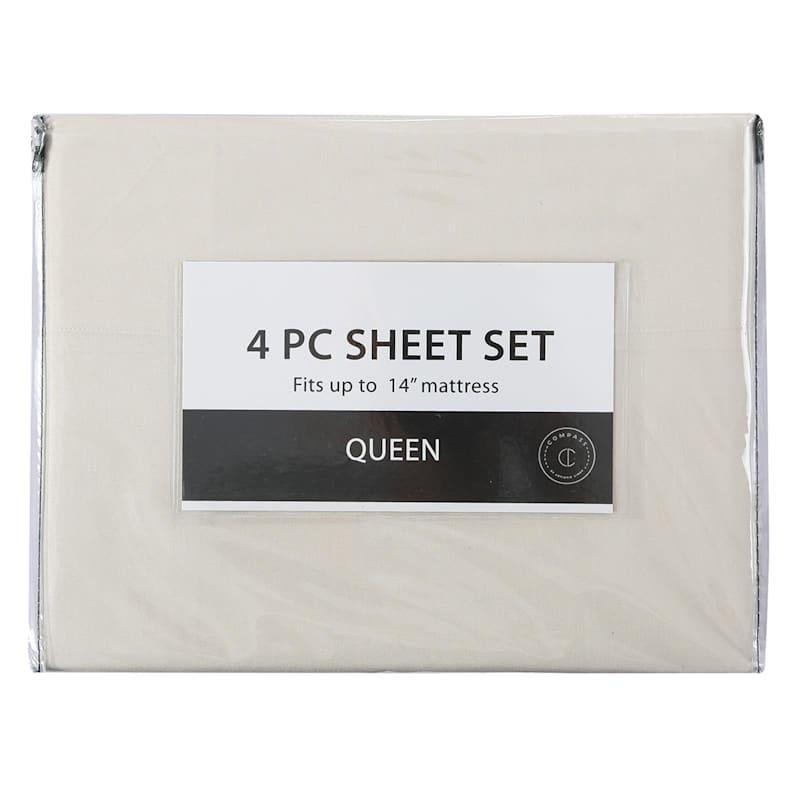 3-Piece Microfiber Sheet Set, Twin, Sand