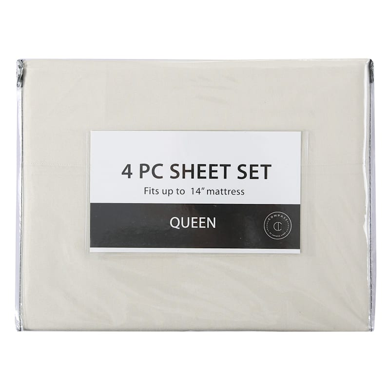4-Piece Microfiber Sheet Set, Full, Sand