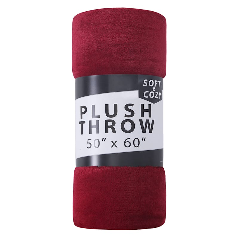 Seville Red Plush Throw 50X60