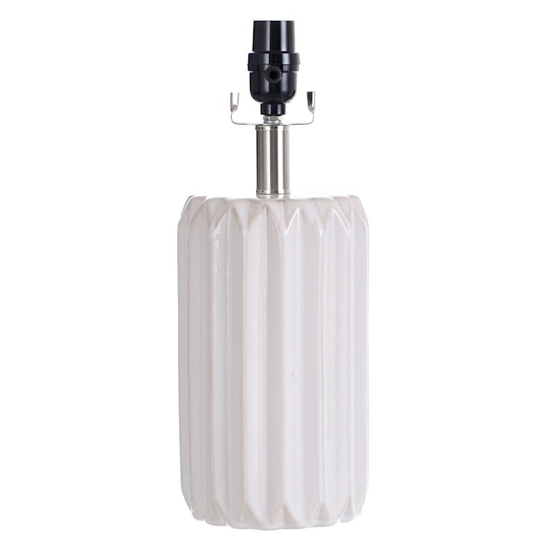 15IN WHITE CERAMIC ACCENT LAMP