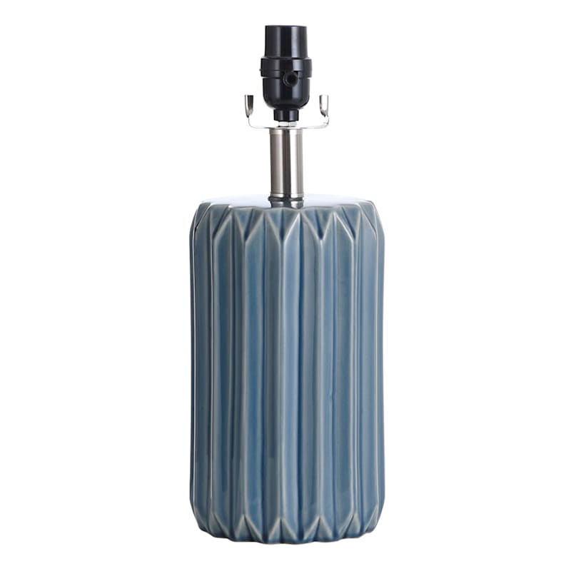 15IN BLUE CERAMIC ACCENT LAMP