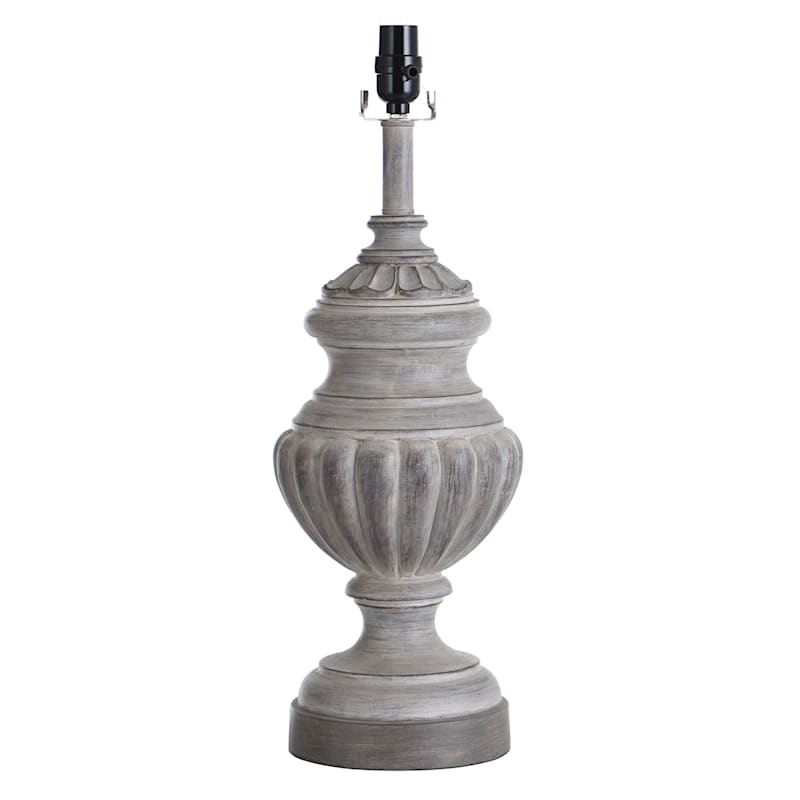 23IN GRAY WASH TABLE LAMP