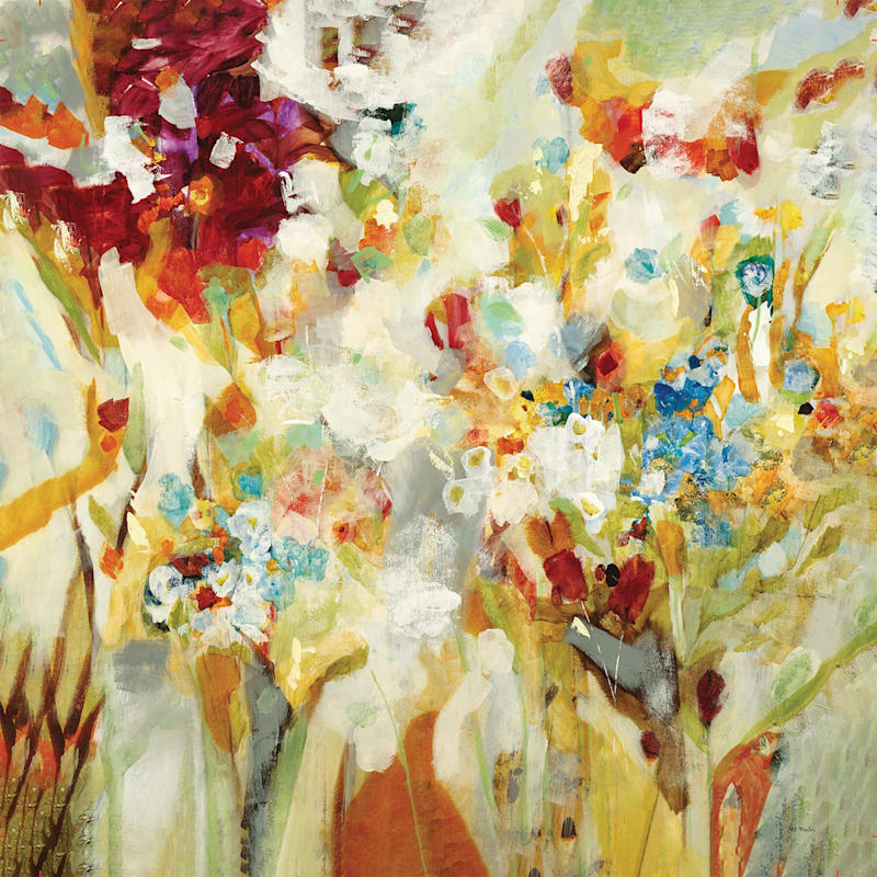 Piquant Abstract Flowers Canvas Wall Art