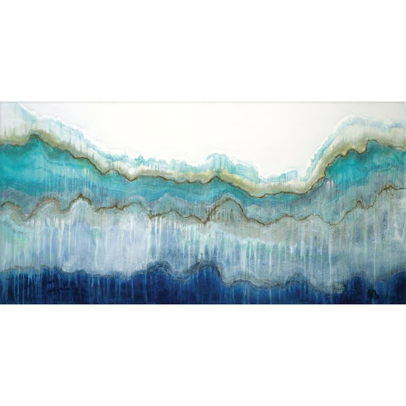 48X24 Surfs Up Embellished Canvas