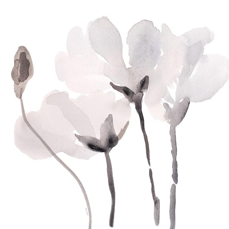 16X16 Tonal Magnolias Iii Embellished Canvas