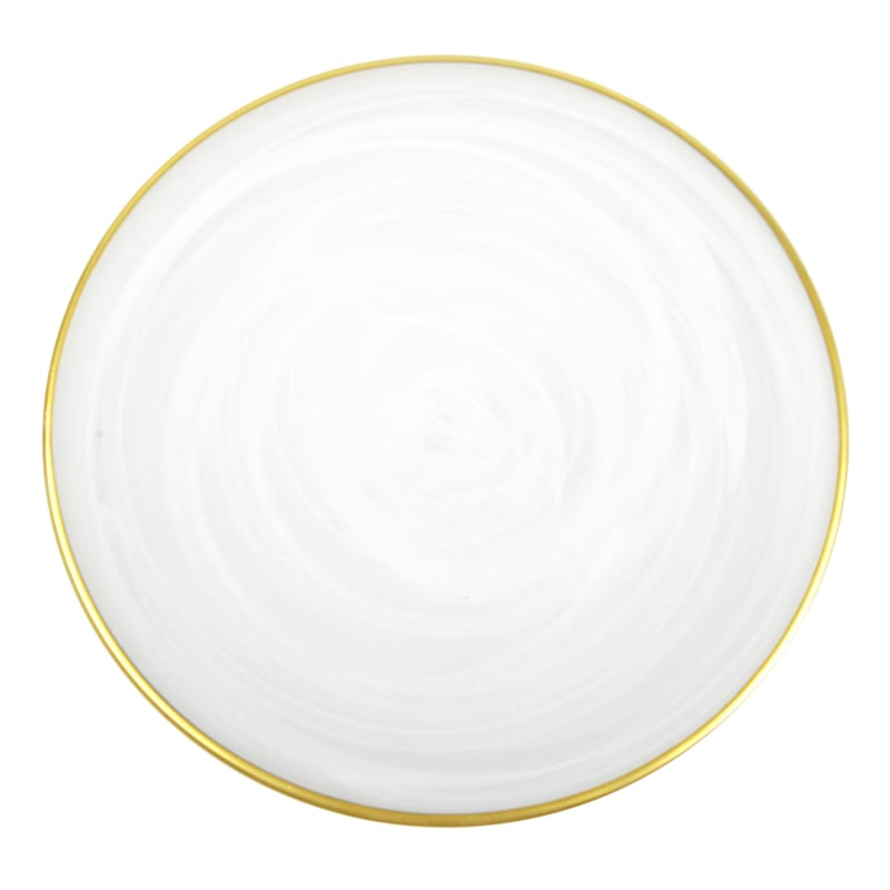 WHITE SWIRL SALAD PLATE 8.25IN