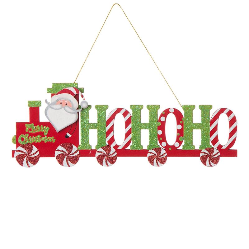 """Ho Ho Ho Train Ornament, 7"""""""