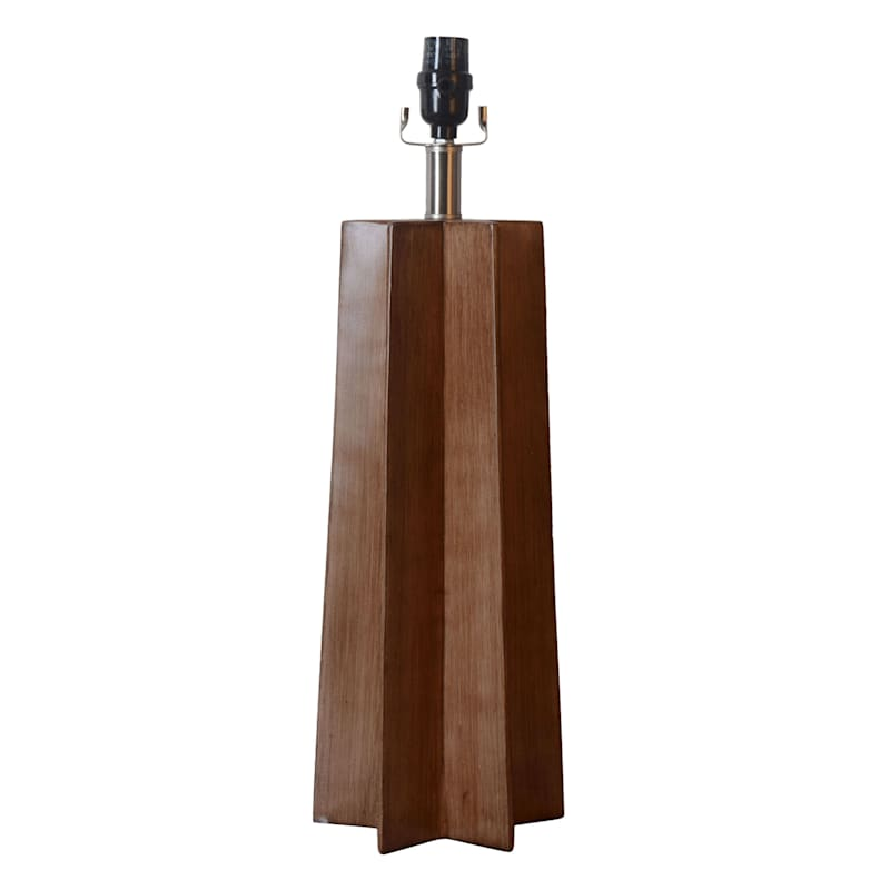 22IN WOOD FINISH TABLE LAMP
