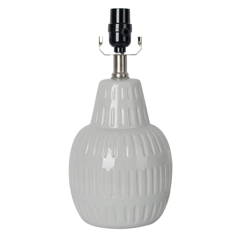 14IN WHT PATTERNED ACCENT LAMP