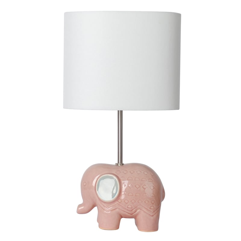 20IN PINK ELEPHANT ACCENT LAMP
