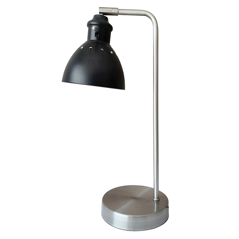18IN SILVER/BLACK TASK LAMP