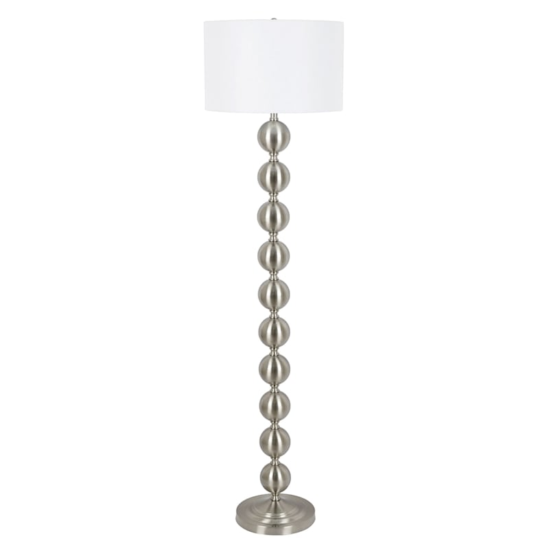 61IN SILVER ORBS FLOOR LAMP