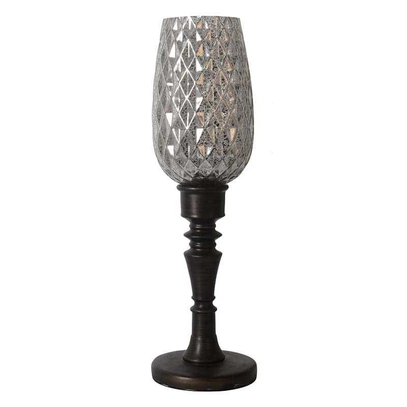 23IN BRONZE CLR GLASS UPLIGHT