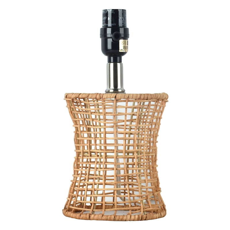 11IN WOVEN RATTAN ACCENT LAMP