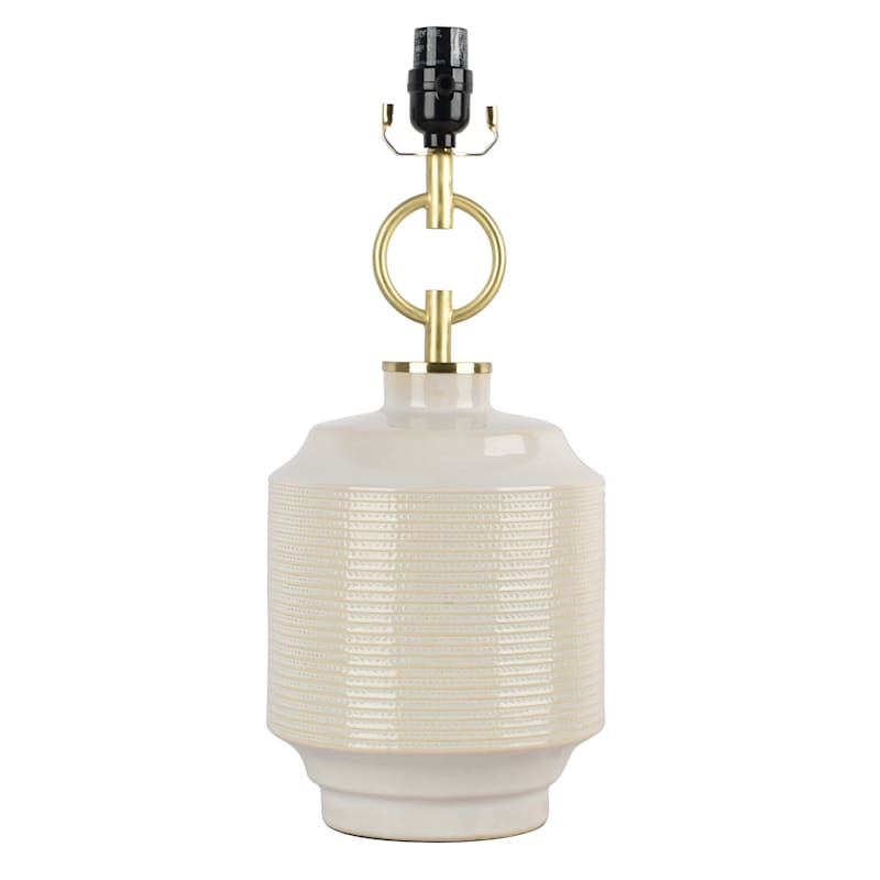 19IN WHITE W GOLD TABLE LAMP