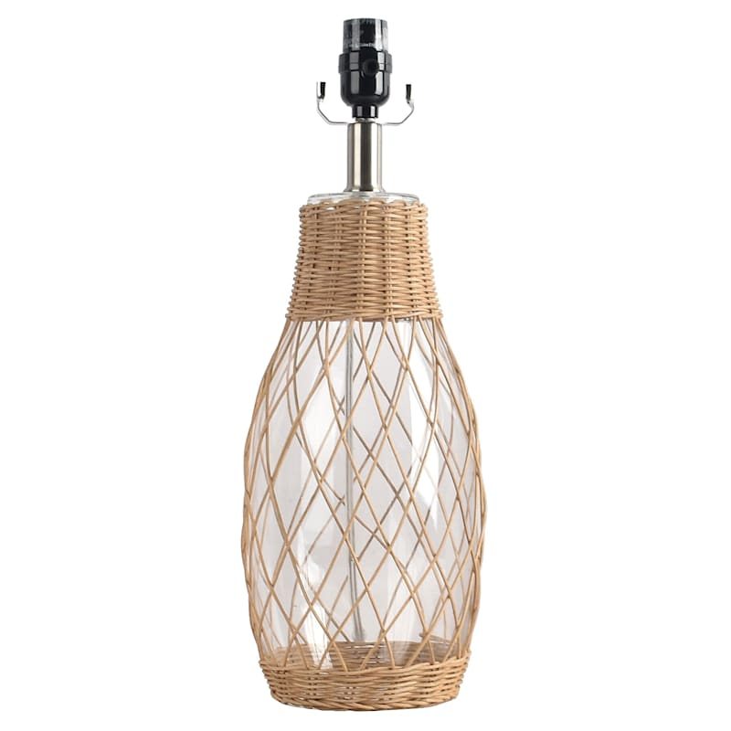 19IN RATTAN WRAPPED TABLE LAMP