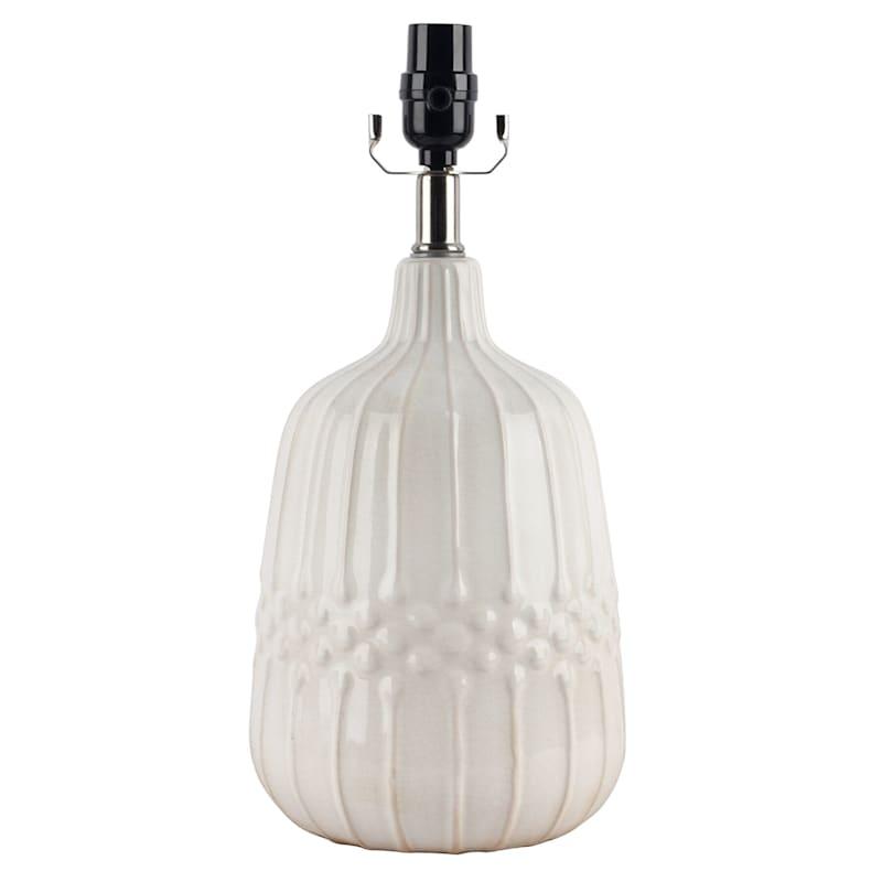 16IN WHITE CERAMIC ACCENT LAMP