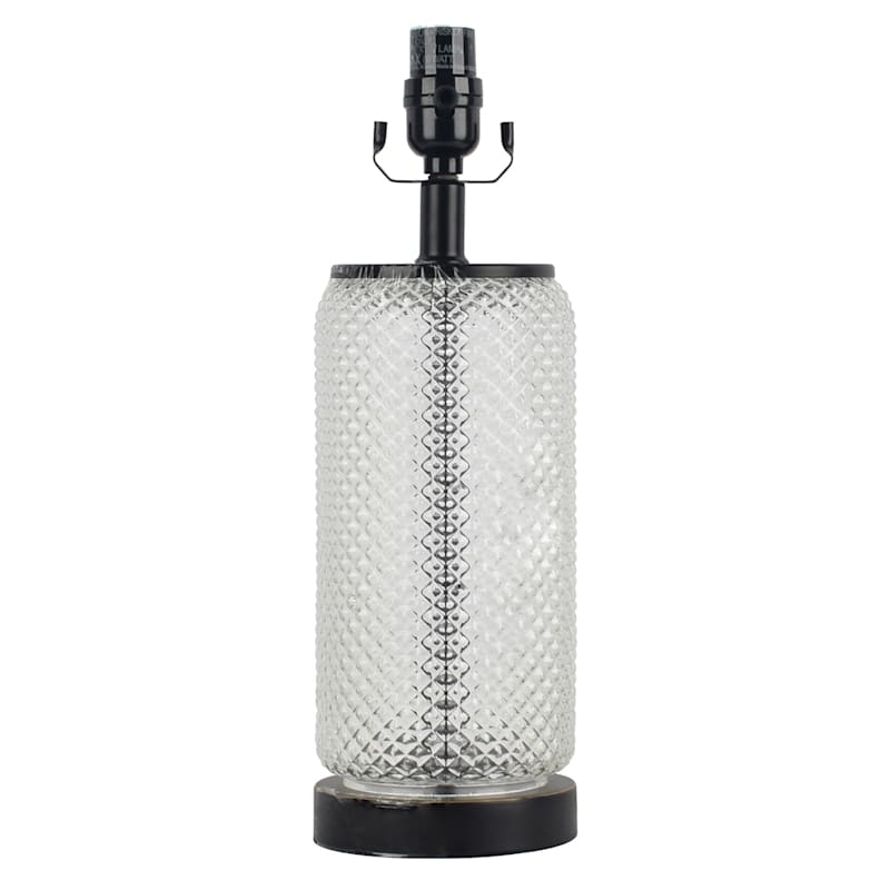 16IN VINTAGE GLASS ACCENT LAMP