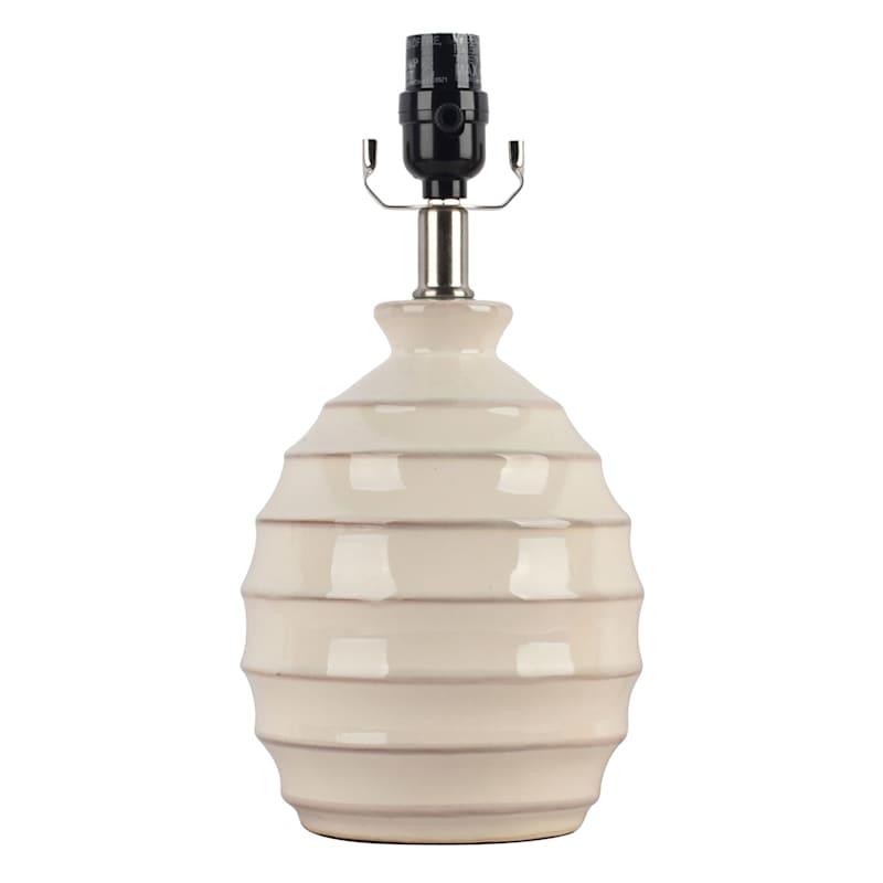 14IN BEIGE CERMAIC ACCENT LAMP