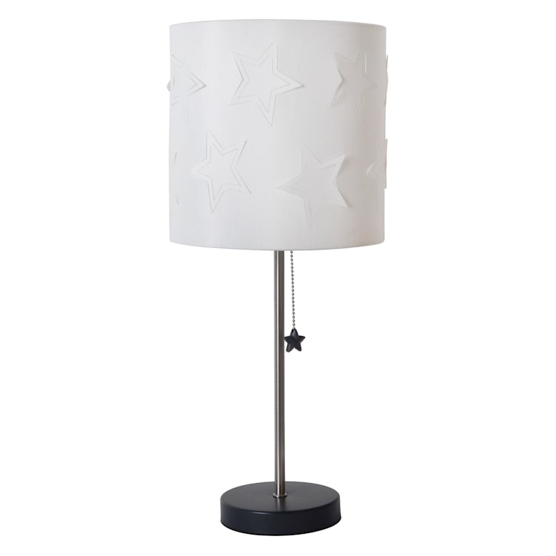 21IN STICK LAMP WITH BLUE STAR